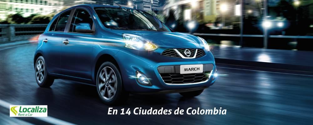 Recibe Upgrade de Gama Económica a Gama Familiar (Logan o Sail) ó Gama Familiar Automática (March ó Sandero) con Localiza Rent a Car<br /><br /><strong>Solo aplica en as siguientes Ciudades: </strong>Armenia, Barranquilla, Bogotá, Bucaramanga, Cali, Cartagena, Cúcuta, Ibagué, Manizales, Medellín, Montería, Pereira, Santa Marta, Villavicencio<br /><br /><strong>Válido para los modelos: </strong>Nissan March Aut, Renault Sandero Aut<br /><br /><strong>Válido para las siguientes rentadoras: </strong>Localiza<br /><br />Búsquedas realizadas entre <strong>06/03/2018 10:45 y 30/04/2018 10:46</strong> y reservas realizadas entre <strong>01/04/2018 y 30/04/2018</strong>